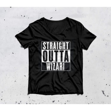 STRAIGHT OUTTA T-shirt black