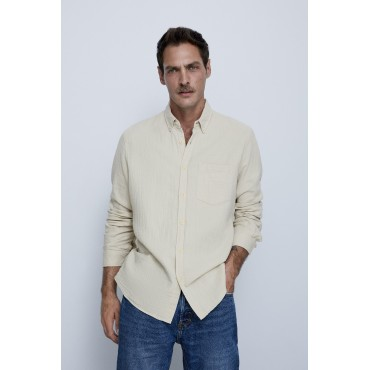 CREASED-EFFECT-TEXTURED-SHIRT