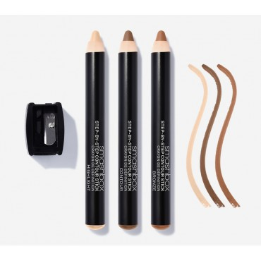 Step by step contour sticks...