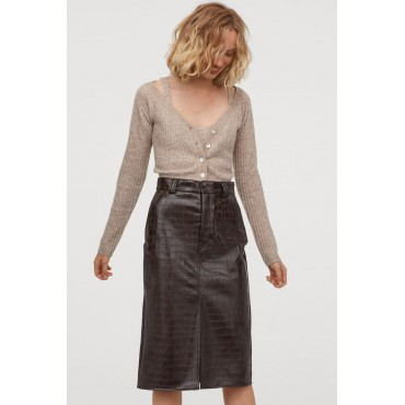 Faux-Leather-Skirt