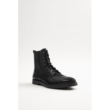 LEATHER-STRETCH-LACE-UP-BOOTS