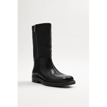 LEATHER-MID-CALF-BOOTS