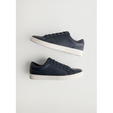 Pebbled-leather-sneakers