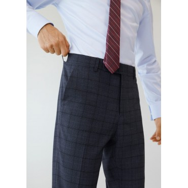Slim-fit-check-suit-trousers