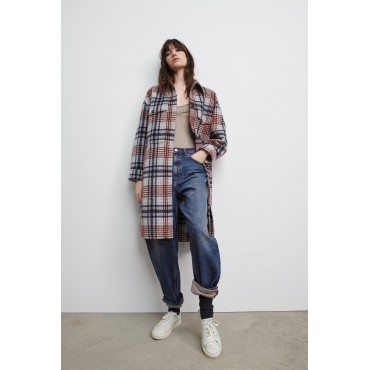 LONGLINE-CHECK-OVERSHIRT