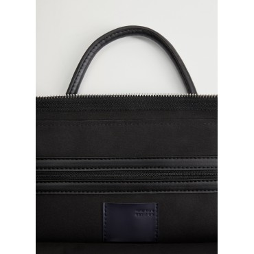 Puffed-leather-tote-briefcase-with-zipper-pockets
