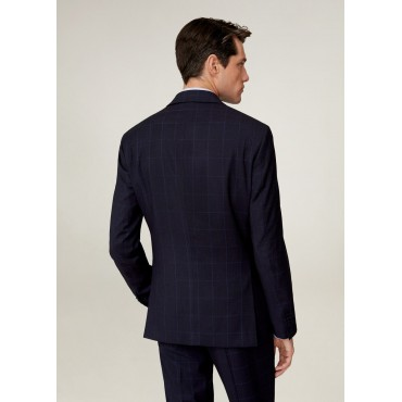 Slim-fit-check-suit-blazer