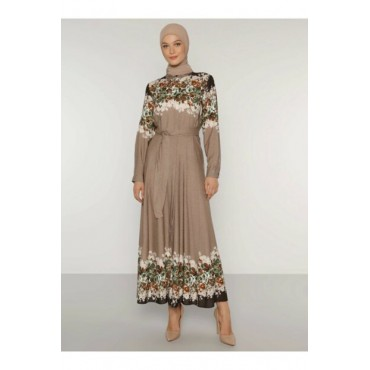 Womens-Mink-Natural-Fabric-Patterned-Dress-1748948-97667670