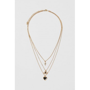 Three-Row-and-Pendant-Necklace