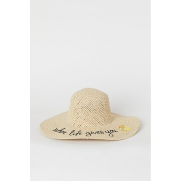 Embroidered-Straw-Hat