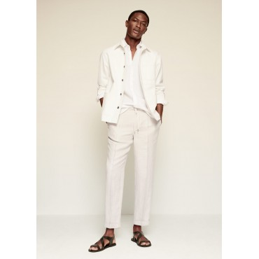 Pleated-linen-trousers