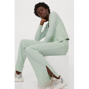 Elastic-Knitted-Trousers